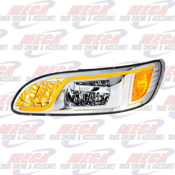 HEADLIGHT HOUSING PB 386/387 DRIVER 100% LED CHROME