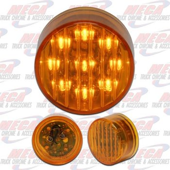 2'' LED AMBER 9 DIODES MARKER LIGHT RIBBED