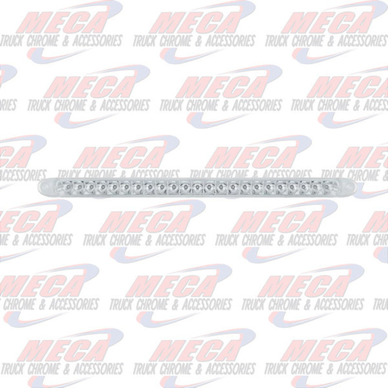"""23 CLEAR RED LED 17.25"""" REFLECTOR S/T/T LIGHT BAR"""