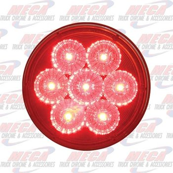 LED 4'' RED ECO W/ 7 LARGE DIODES & REFLECTOR