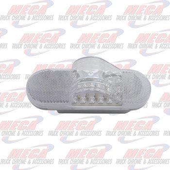 MIDTURN LED AMBER/CLEAR 18 LED W/ BUBBLE