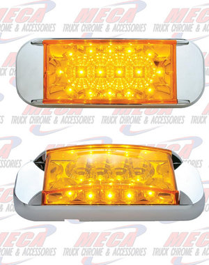 MARKER LIGHTS ** Discontinued ** LED TRAILER LT W/ AMB REFLECTOR  W/BUILT IN BEZEL