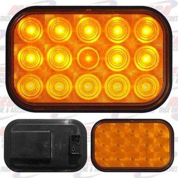 LIGHT LED SQUARE AMBER W/ 15 DIODES