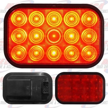 LIGHT LED RECT RED W/ 15 DIODES
