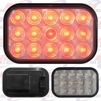 LIGHT LED SQUARE CLEAR RED W/ 15 DIODES