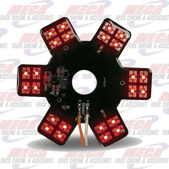"STAR LED- INSIDE 13"" DONALDSON AIR FILTER RED EA"