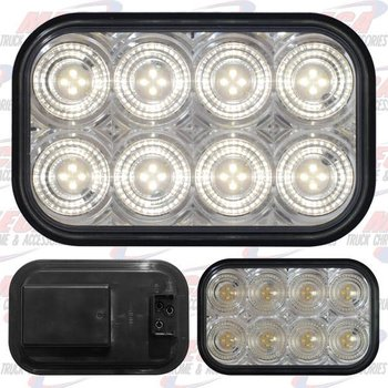 BACK UP LAMP RECTANGULAR 32 WHITE LED