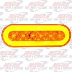 LED OVAL HALO LIGHT AMBER 21 LED