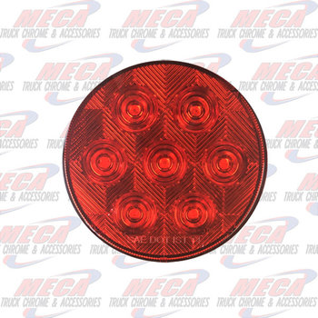 LED 4'' RED COMPETITION SERIES W/ 7 DIODES ECO