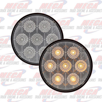 LED 4'' CLR AMBER COMPETITION SERIES W/ 7 DIODE ECO