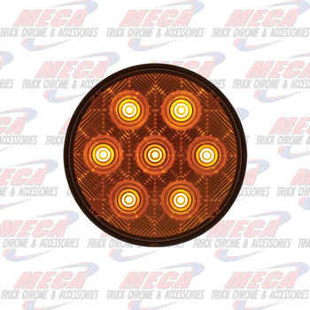 LED 4'' AMBER COMPETITION SERIES W/ 7 DIODES ECO