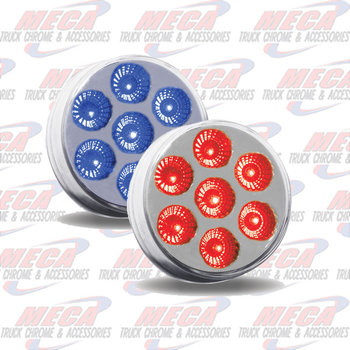 LED 2'' DUAL REVOLUTION 7 DIODES RED/BLU