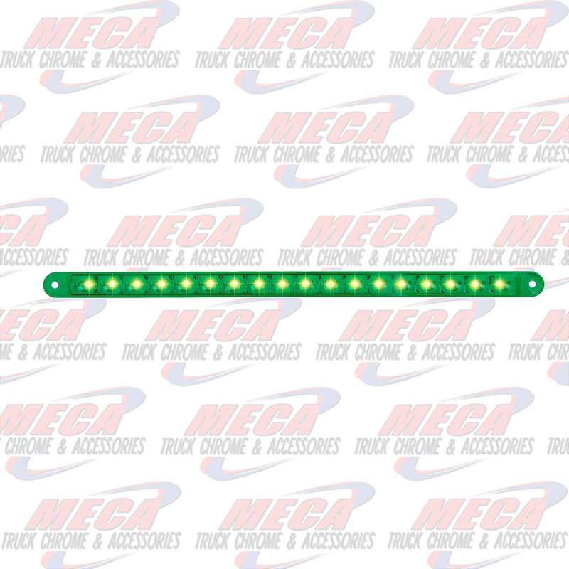 "12"" PEARL GRN/GRN 18LED LIGHT BAR, 3 WIRES"
