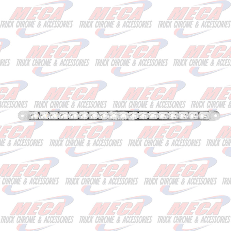 "12"" PEARL WHT/CLR 18LED LIGHT BAR, 3 WIRES"