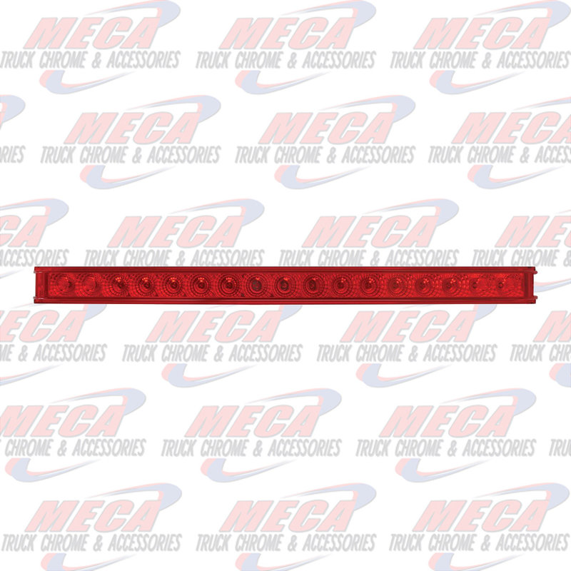 "17 RED LED 20"" SPYDER SINGLE ROW S/T/T LIGHT BAR"