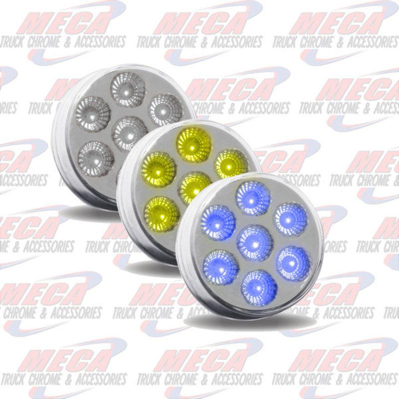 """MARKER LIGHTS 2 1/2"""" Dual Revolution Amber/Blue LED (7 Diodes)"""