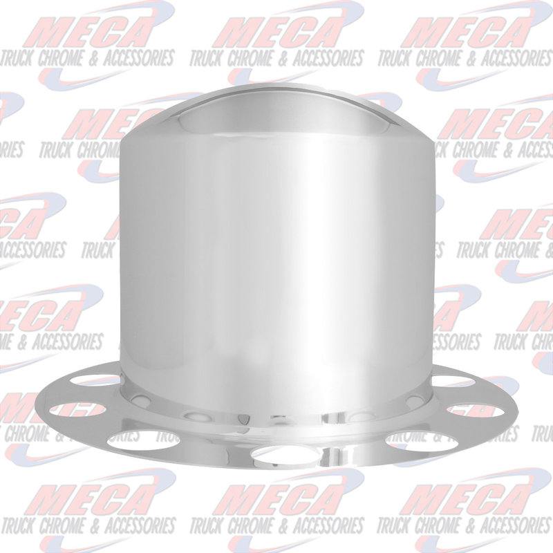 2 PIECE REAR AXLE COVER CHROMED 8 HOLES