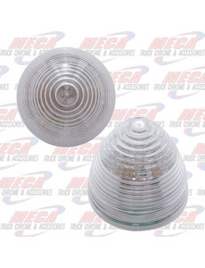 MARKER LIGHTS 2'' LED RED CLEAR BEEHIVE 9 DIODES MARKER LIGHT