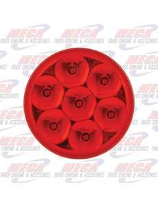 MARKER LIGHTS 2'' LOW PROFILE PEARL RED/RED 7LED DUAL/3 WIRES