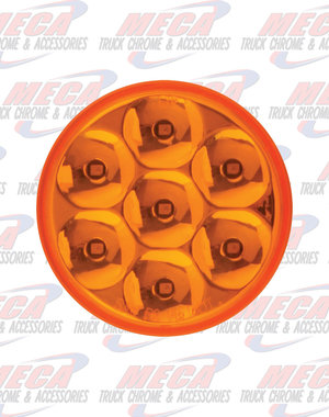 MARKER LIGHTS 2.5'' LOW PROFILE PEARL AMB/AMB 7 LED DUAL/3WIRES