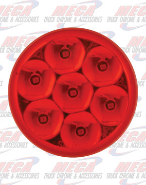 MARKER LIGHTS 2.5'' LOW PROFILE PEARL RED/RED 7 LED DUAL/3WIRES
