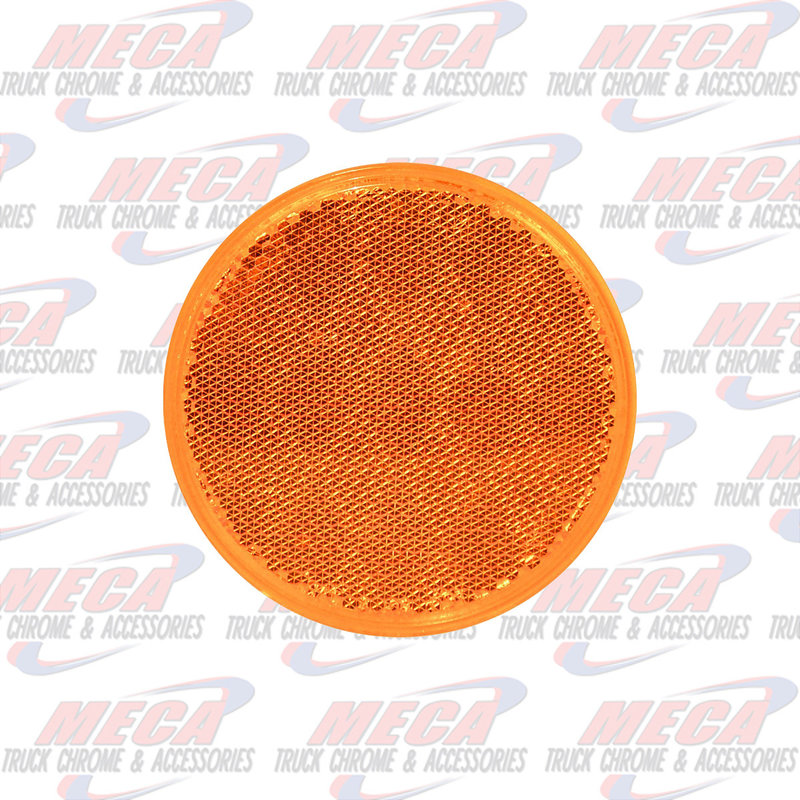 "3"" AMBER REFLECTOR W/ ADHESIVE TAPE"