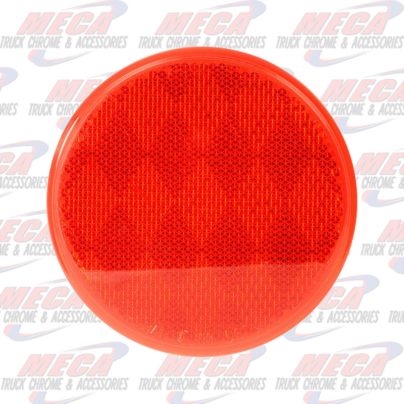 """3"""" RED REFLECTOR W/ ADHESIVE TAPE"""