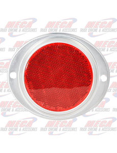 "3"" RED REFLECTOR W/ ALUMINUM SCREW MOUNT BASE"