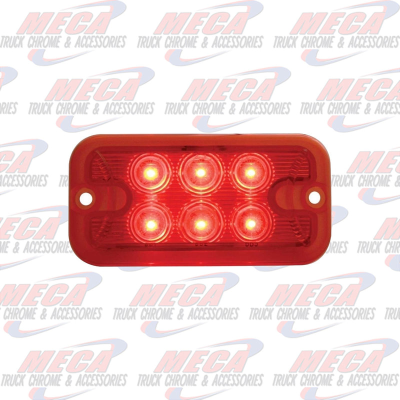 6 LED DUAL FUNCTION / BRIGHTNESS RED / RED LIGHT