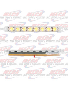 MARKER LIGHTS 6-1/2 PEARL AMB/CLEAR 8 LED LIGHTBAR 3 WIRES