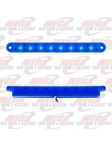 MARKER LIGHTS 6-1/2 PEARL BLUE/BLUE 8 LED LIGHTBAR 3 WIRES