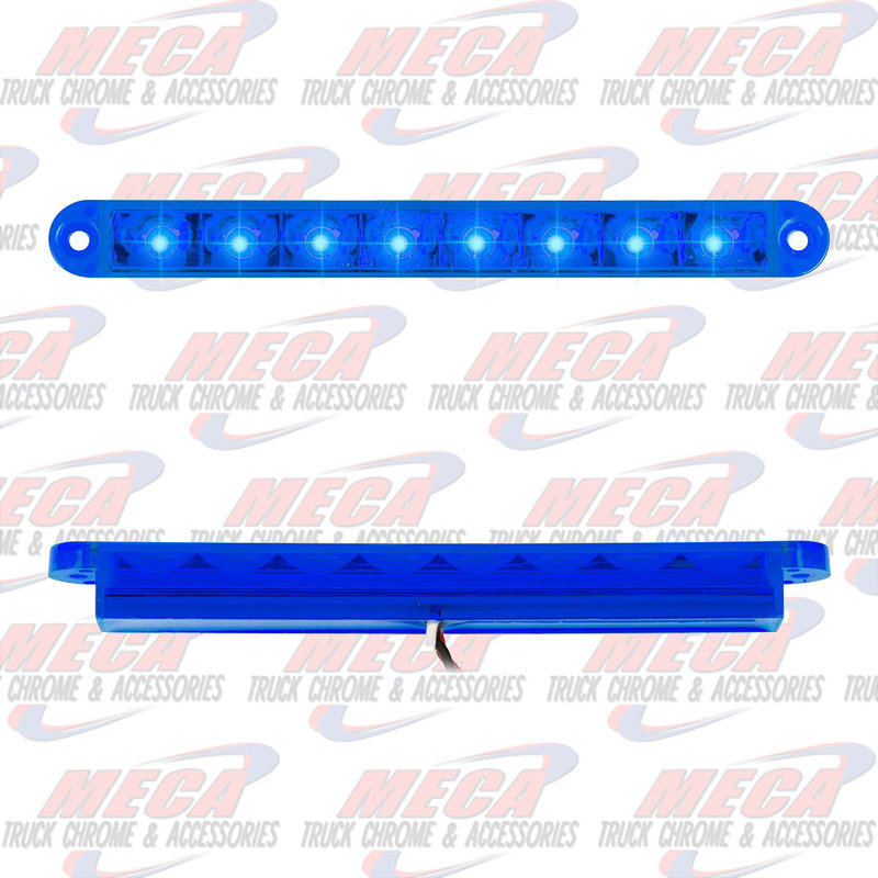 6-1/2 PEARL BLUE/BLUE 8 LED LIGHTBAR 3 WIRES