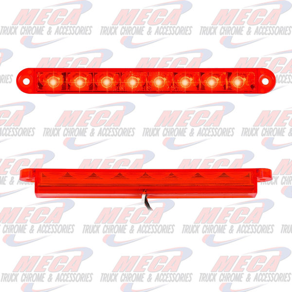 MARKER LIGHTS 6-1/2 PEARL RED/RED 8 LED LIGHTBAR 3 WIRES