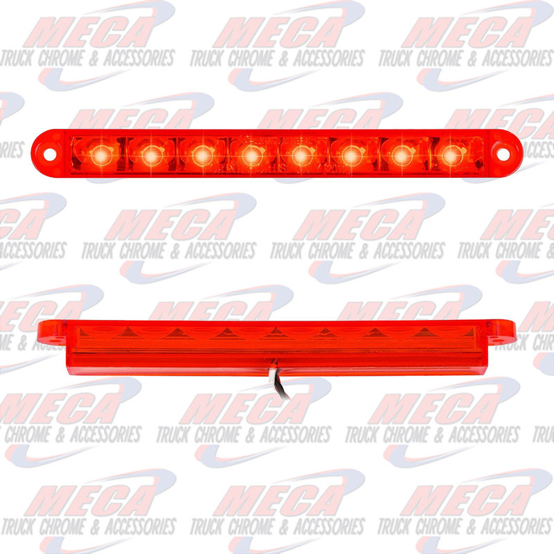 6-1/2 PEARL RED/RED 8 LED LIGHTBAR 3 WIRES