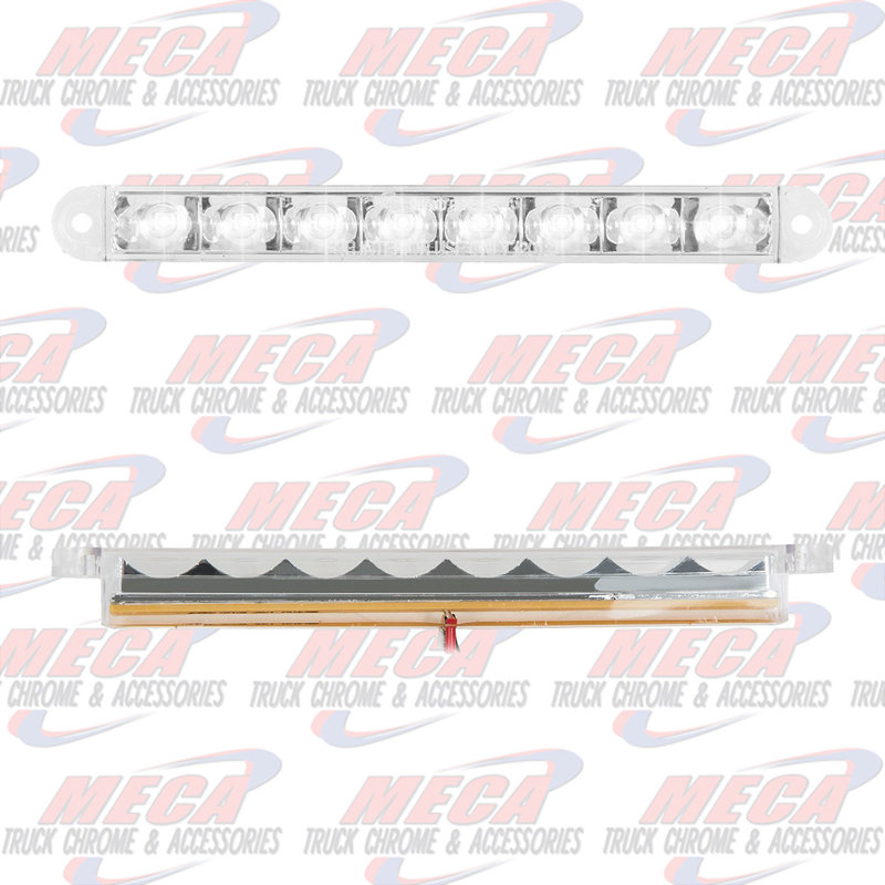 6-1/2 PEARL WHT/CLR 8 LED LIGHTBAR 3 WIRES