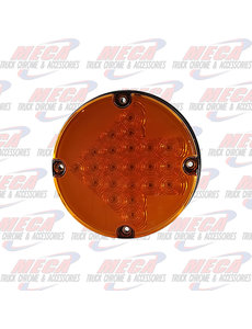 "MARKER LIGHTS 7"" LED FOR BUSES AMBER WITH ARROW DESIGN INSIDE"