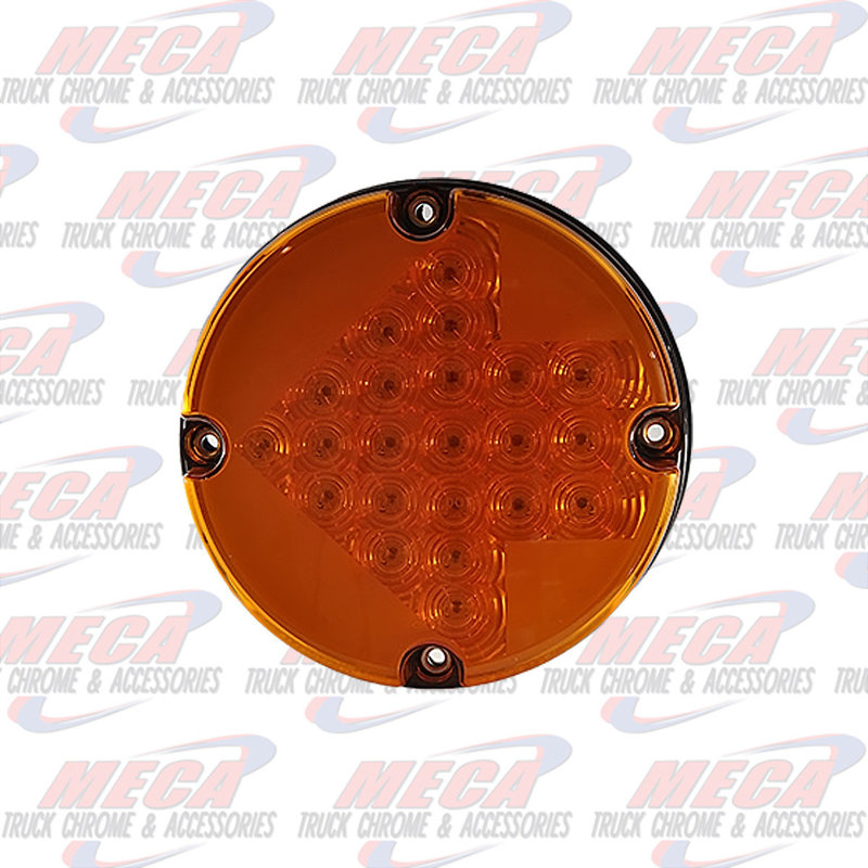 """7"""" LED FOR BUSES AMBER WITH ARROW DESIGN INSIDE"""
