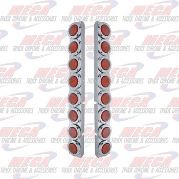 """UNITED PACIFIC AIR CLEANER LGT PANEL PB 379 REAR W/ 16-2"""" RED LED"""