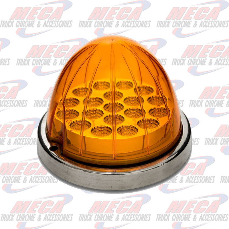 AMBER WATERMELON LED W/ REFLECTOR CUP & LOCK RING