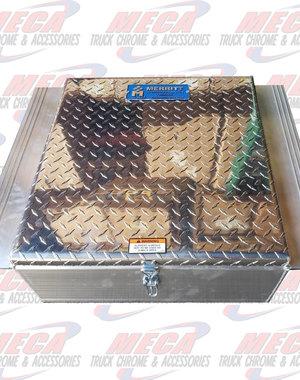 TOP TOOL BOX BETWEEN FRAME DIAMOND PLATE DOOR