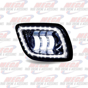 FOG LIGHT FL CASCADIA CHROME LED PSGR SIDE 2008-17