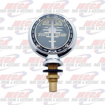 HOOD ORNAMENT MOTOMETER TOP ONLY W/O ALUM BASE