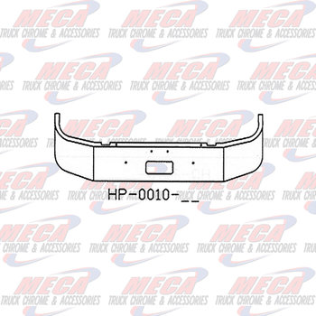 VALLEY CHROME BUMPER PB 330/335 18'' SET FWD 1997+ W/ TOW ONLY