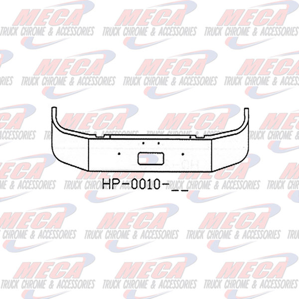 FRONT BUMPER PB 330/335 18'' SET FWD 1997+ W/ TOW ONLY