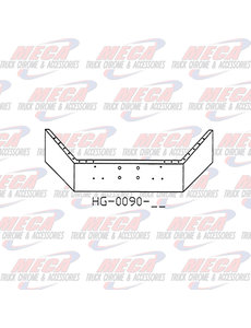 FRONT BUMPER PB 378 & 357 16'' CHROME W/ 4 HOLES FOR WINCH