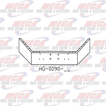 VALLEY CHROME BUMPER PB 378 & 357 16'' CHROME W/ 4 HOLES FOR WINCH