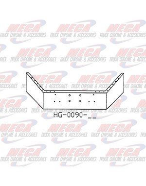 FRONT BUMPER PB 378 & 357 14'' CHR BREAK BACK, WITH WINCH HOLES