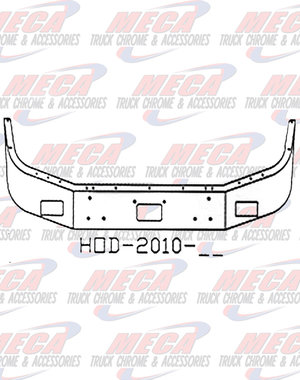 FRONT BUMPER PB 378 / 357 18'' BREAK BACK FOG, TOW CHROME