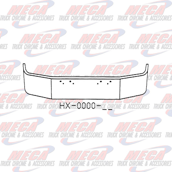 FRONT BUMPER PB 367 & 567 16'' CHROME W/ MNTG HOLES ONLY