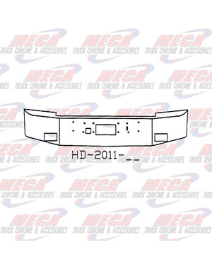 FRONT BUMPER PB 375 18'' W/2'' BREAK BACK TOW FOG
